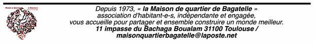 Bandeau Maison de quartier Bagatelle